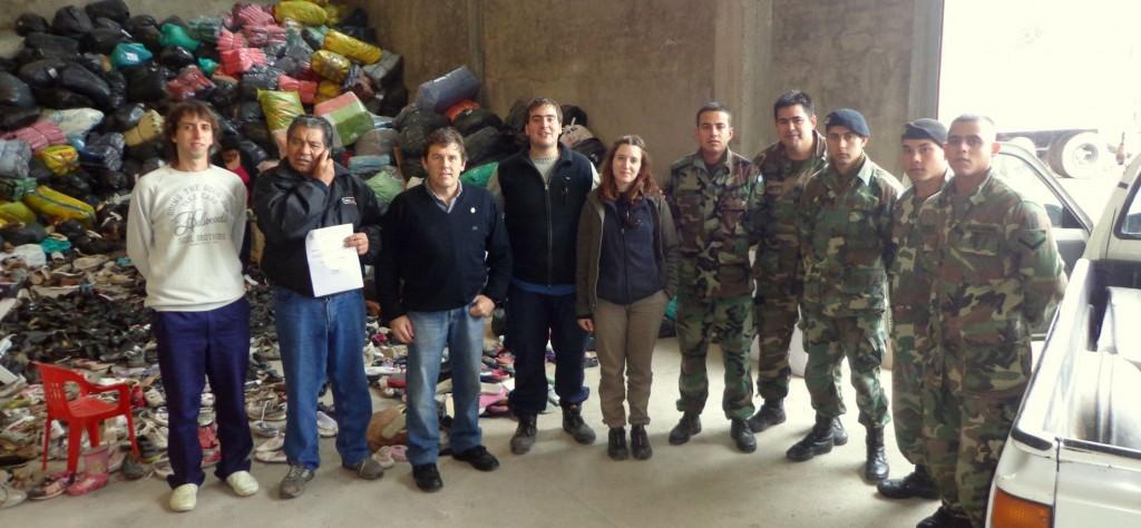 Entrega de donaciones a La Plata