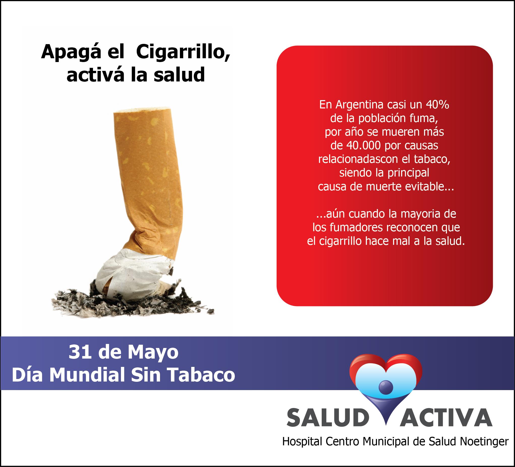 31 de Mayo: Día Mundial sin Tabaco | Noetinger