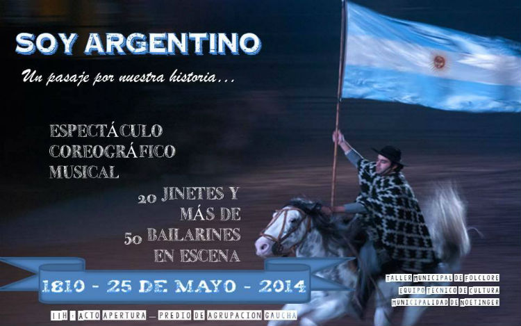 Este domingo 25 de mayo soy argentino un espect culo sin for Las ultimas noticias del espectaculo argentino