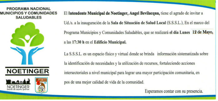 Municipios Saludables  ASSSL invitacion