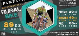 El 29/10  Rural Bike VI Desafío a la Pampa Vieja en Noetinger