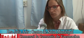 Dra. Julia Aris se refiere a la Vacuna Antigripal en Centro de Salud