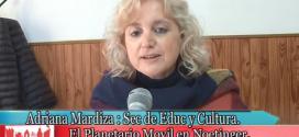 Sec. de Cultura Adriana Mardiza y el Planetario Móvil en Noetinger