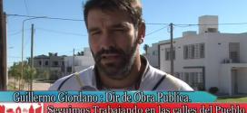 Sr. G. Giordano y el Plan de  Mejoras de Calles y Cordón Cuneta