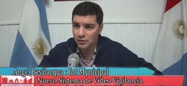 Intendente A. Bevilacqua y nuevo sistema de  Videovigilancia y nueva Motobarredora