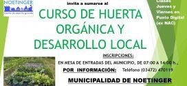 Súmese al Curso de Desarrollo Local y Huerta Orgánica