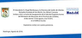 Inauguramos Sala (Programa Aurora) en Escuela Remedios E. de San Martín