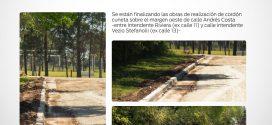 Obras para crecer: construcción de Cordón Cuneta en calle Andrés Costa