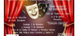 """Taller de Teatro Municipal presenta """"Mamá Mata"""" en casa y a la gorra"""
