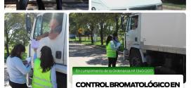 BROMATOLOGÍA: CONTROLES A VEHÍCULOS DE CARGA ALIMENTICIA