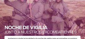 NOCHE DE VIGILIA                         JUNTO A NUESTROS EXCOMBATIENTES