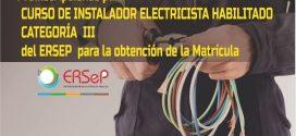 CURSO PARA MATRICULACIÓN  DE ELECTRICISTA