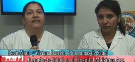 R.Nant y V.Barreto en Jornada de Salud en Hospital «Malvinas Argentinas»