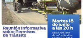 REUNIÓN INFORMATIVA SOBRE PERMISOS DE TRÁNSITO EN RUTAS