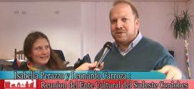 I. Perazzo y L. Carrozza en reunión  del Ente Cultural del Sudeste Cordobes