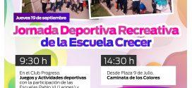 JORNADA DEPORTIVA RECREATIVA DE LA ESCUELA «CRECER»