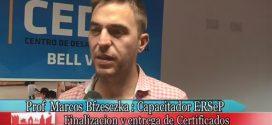 Prof. Marcos Bfzesczka y Curso de Capacitación de Electricista Matriculado (ERSEP).