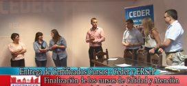 Entrega de Certificados Cursos de Capacitación CEDER y ERSEP