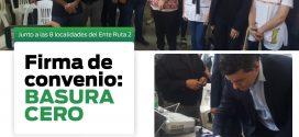 MUNICIPIOS DEL ENTE RUTA 2 FIRMAN CONVENIO PARA MANEJO REGIONAL DE RESIDUOS SÓLIDOS URBANOS
